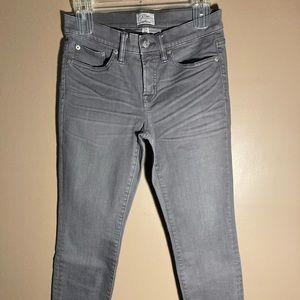 J. Crew 8'' Toothpick grey jeans